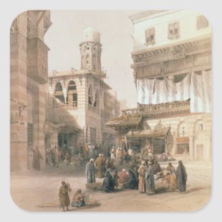 """Bazaar of the Coppersmiths, Cairo, from """"Egypt and Square Sticker"""