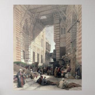 """Bazaar of the Silk Merchants, Cairo, from """"Egypt a Poster"""