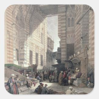 "Bazaar of the Silk Merchants, Cairo, from ""Egypt a Square Sticker"