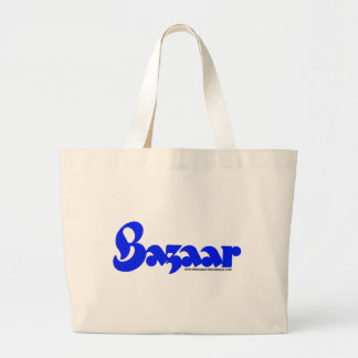 Bazaar Retro Font Large Tote Bag