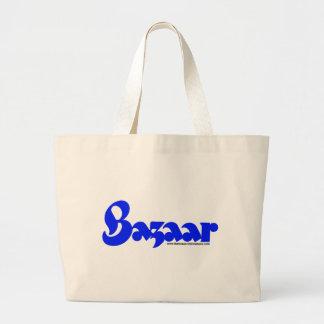 Bazaar Retro Font Large Tote Bag