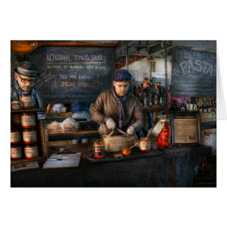 Bazaar - We sell tomato sauce Greeting Card