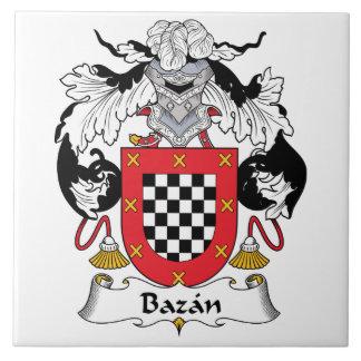 Bazan Family Crest Ceramic Tile