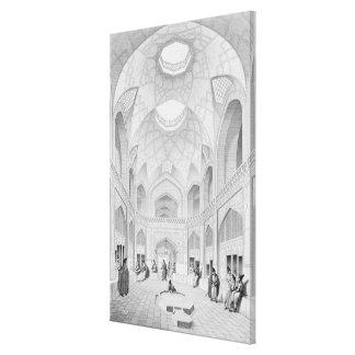 Bazar de Adji Seid Hussein, en Kashan, del 'viaje Lona Envuelta Para Galerias