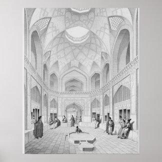 Bazar de Adji Seid Hussein, en Kashan, del 'viaje Posters