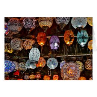 Bazar magnífico en Estambul, Turquía Tarjeta De Felicitación
