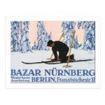 Bazar Nurnberg Winter Sport Post Card