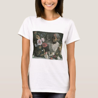 Bazille African Woman With Peonies T-Shirt