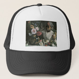 Bazille African Woman With Peonies Trucker Hat