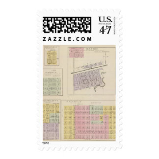Bazine, Sidney, Nonchalanta, Harold, Kansas Postage