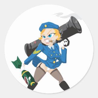 Bazooka Girl Sticker