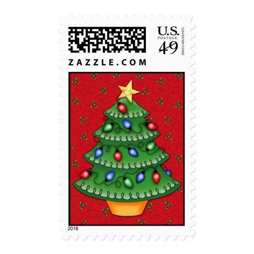 BaZooples Christmas Tree Postage Stamp