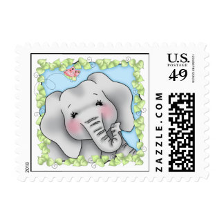 BaZooples Elsie the Elephant Postage Stamp