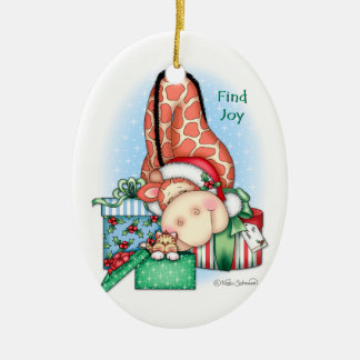 """BaZooples """"Find Joy"""" Ornament"""