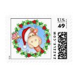 BaZooples Gertrude Christmas Postage Stamp