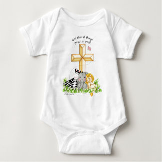 """BaZooples """"God bless all things..."""" Baby Onsie T Shirt"""
