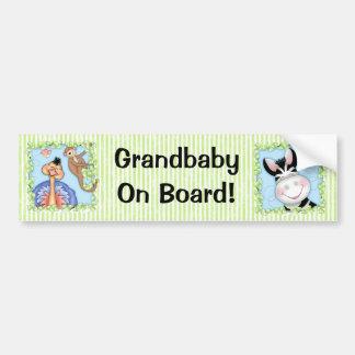 "BaZooples ""Grandbaby On Board!"" Bumper Sticker Car Bumper Sticker"