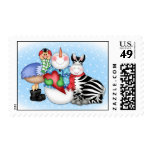 BaZooples Holiday Friends Postage Stamp