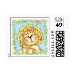 BaZooples Lester the Lion Postage Stamp