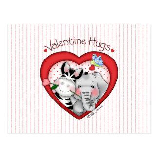 """BaZooples """"Valentine Hugs"""" Postcard"""