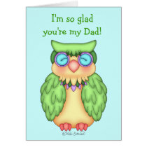 BaZooples Wise Owl Father's Day Card