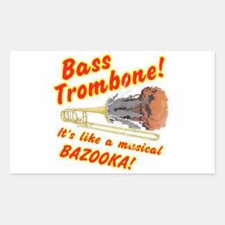 Bazuca bajo del Musical del Trombone Pegatina Rectangular