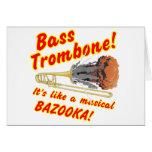 Bazuca bajo del Musical del Trombone Tarjeta De Felicitación