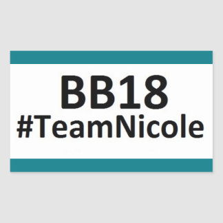 BB18 (Big Brother 18) Team Nicole STICKERS