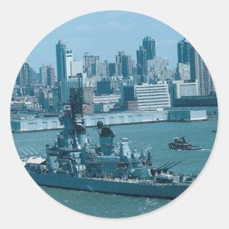 BB-61 USS Iowa New York Harbor U S A Sticker
