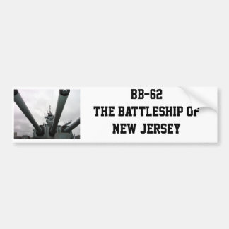 BB-62 Battleship New Jersey Bumper Sticker
