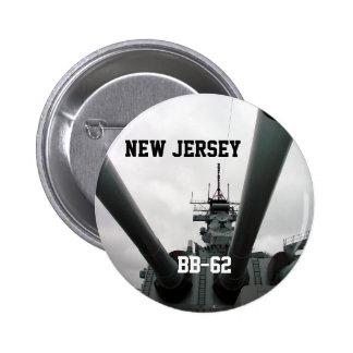 BB-62 Battleship New Jersey Buttons