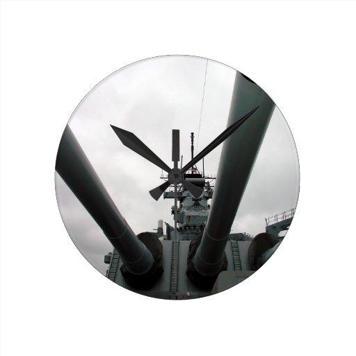 BB-62 Battleship New Jersey Round Wallclock