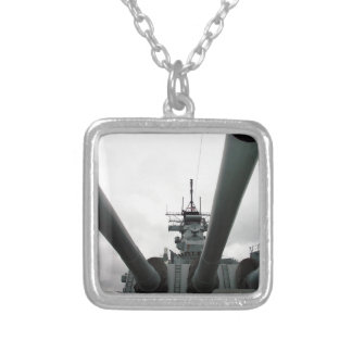 BB-62 Battleship New Jersey Square Pendant Necklace