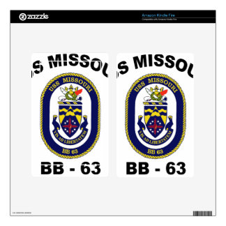 BB-63 USS Missouri Decals For Kindle Fire