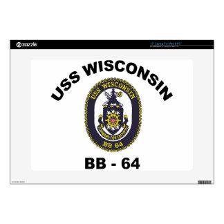 "BB-64 USS Wisconsin 15"" Laptop Skins"
