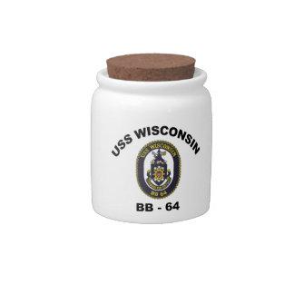 BB-64 USS Wisconsin Candy Jars