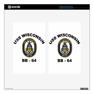 BB-64 USS Wisconsin Kindle Fire Decal