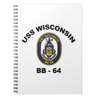BB-64 USS Wisconsin Notebook