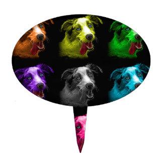 bb australiano del arte pop del perro de pastor decoraciones de tartas