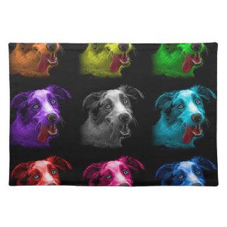 bb australiano del arte pop del perro de pastor manteles