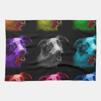 bb australiano del arte pop del perro de pastor toallas de cocina