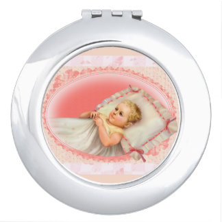 BB BABY NEW BORN CARTOON compact mirror ROUND