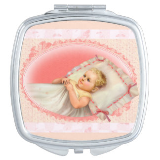 BB BABY NEW BORN CARTOON compact mirror SQUARE