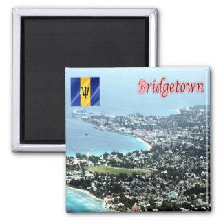 BB - Barbados - Bridgetown Imán Cuadrado