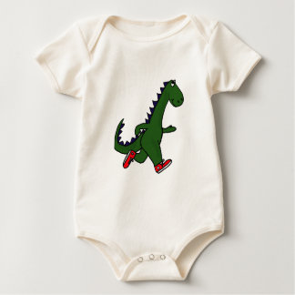 BB- Cartoon Jogging Dinosaur Baby Outfit Baby Bodysuit