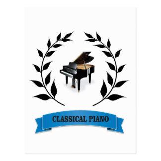 bb classical piano postcard