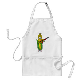 BB- Corn Playing Fiddle or Violin Adult Apron