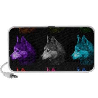 BB del arte 6048 del perro del husky siberiano Altavoces De Viaje