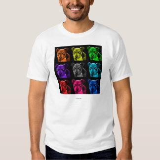 bb del arte pop del perro del pitbull 0785 camisas