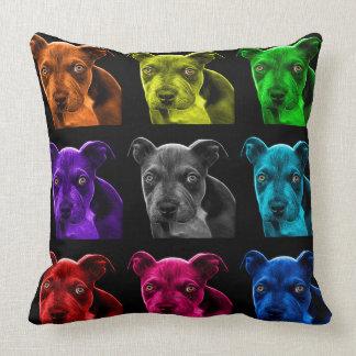 bb del arte pop del perro del pitbull 0785 cojín